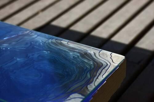 resin ocean table
